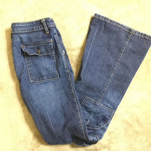 Mossimo Womens Stretch Flare Leg Jeans Size 3